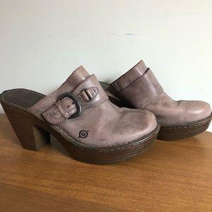 Born leather clogs